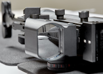 Looking through the Scope of an AR15 Rifle