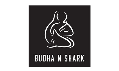 Buddha and Shark logo design inspiration