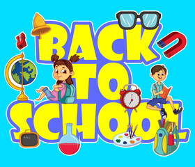 Back School vector for banner or background