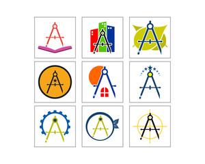 School Equipment image vector icon logo set