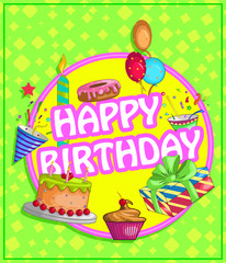 happy birthday vector design for greeting and banner