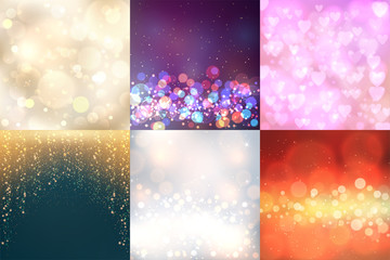 Creative bokeh vector abstract trendy texture colorful blur backdrop background ornament illustration.