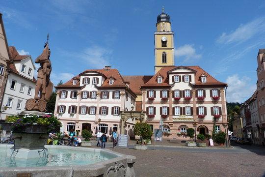 Marktplatz Bad Mergentheim.