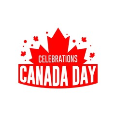 Canada Day Celebrations Logo Vector Template Design Illustration