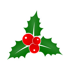 Holly Berry icon. Christmas symbol. Xmas holiday decoration element. Vector illustration.