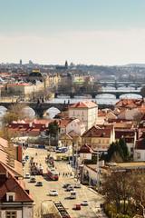 Busy Prague Street in Lesser Town