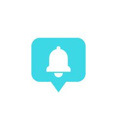 Notification icon, vector pictogram