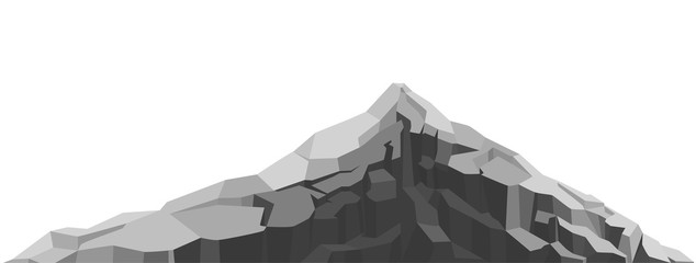 Mountain of large rock and stone. Boulders, graphite coal.