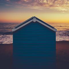 Beach Hut at Sunset