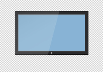A blank LCD screen, plasma displays or TV to your design.
