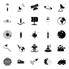 cosmos and space icons set