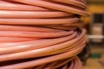 Copper rod turns