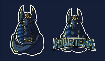 anubis esport gaming mascot logo template