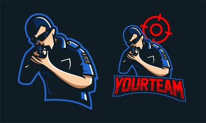 cop/police esport gaming mascot logo template
