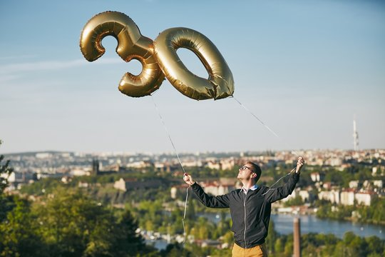 Man celebrates thirty years birthday
