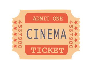 Admit One Cinema Ticket Sample Vector Illustration