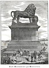 Lion of Waterloo (from Das Heller-Magazin, November 22, 1834)
