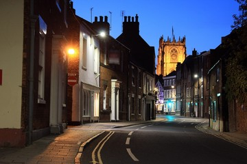 Lairgate, Beverley, by night.