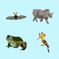 icons about Animal with fly, tattoo, flat, skin and animal