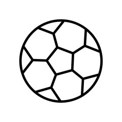 football ball icon. simple illustration outline style sport symbol.