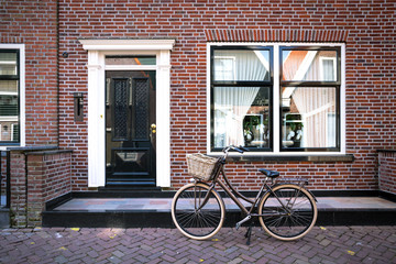 Printed roller blinds Bicycle bike on a street