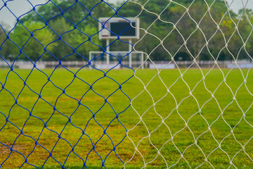 Mesh in the football field.