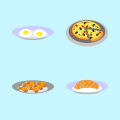 icons about Food with leg, eat, fried chiken, omelette and cuisine