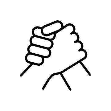 arm wrestling sportive icon. simple illustration outline style sport symbol.