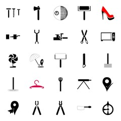 instruments and tools icons set