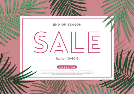 Sale Background tropical discount.