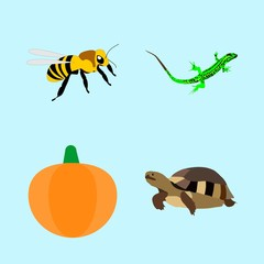 icons about Animal with honey, style, silhouette, fluffy and honey bee