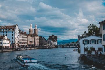 Bootsfahrt in Zürich.