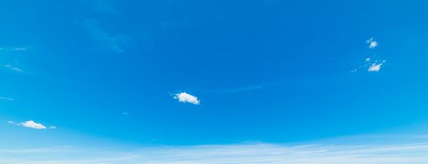 Blue sky in springtime
