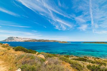 Blue sky over Capo Coda Cavallo