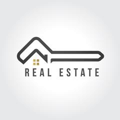 Vector logo design template for real estate.