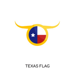 texas flag logo isolated on white background , colorful vector icon, brand sign & symbol for your business