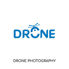drone photography logo isolated on white background , colorful vector icon, brand sign & symbol for your business