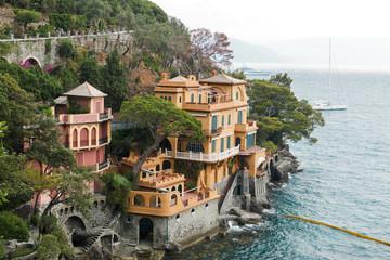 Seaside villas near Portofino in Italy.