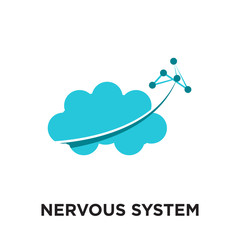 nervous system logo isolated on white background , colorful vector icon, brand sign & symbol for your business
