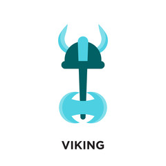 viking logo isolated on white background , colorful vector icon, brand sign & symbol for your business
