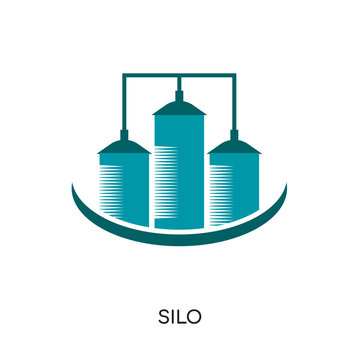 silo logo isolated on white background , colorful vector icon, brand sign & symbol for your business