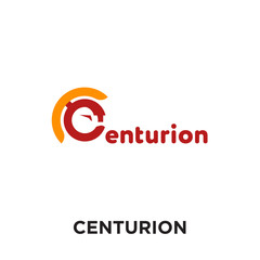 centurion logo isolated on white background , colorful vector icon, brand sign & symbol for your business