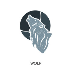 wolf logo vector icon isolated on white background, colorful brand sign & symbol for your business