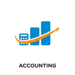 accounting logo images isolated on white background , colorful vector icon, brand sign & symbol for your business