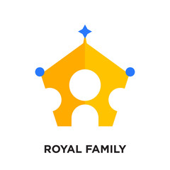 royal family logo isolated on white background , colorful vector icon, brand sign & symbol for your business