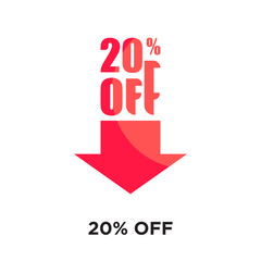 20% off logo isolated on white background , colorful vector icon, brand sign & symbol for your business