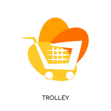 trolley logo isolated on white background , colorful brand sign & symbol for your business