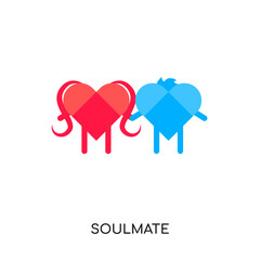 soulmate logo isolated on white background , colorful vector icon, flat sign and symbol