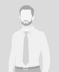 Default placeholder businessman half-length portr