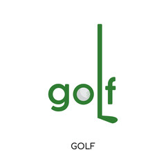 golf logo vector icon isolated on white background, colorful brand sign & symbol for your business